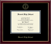 Hazard High School Diploma Frame - Gold Embossed Diploma Frame in Galleria