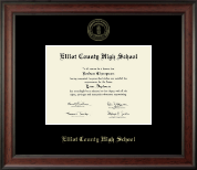 Elliott County High School Diploma Frame - Gold Embossed Diploma Frame in Studio
