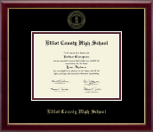Elliott County High School Diploma Frame - Gold Embossed Diploma Frame in Galleria