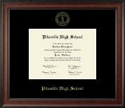 Pikeville High School Diploma Frame - Gold Embossed Diploma Frame in Studio
