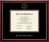 Pikeville High School Diploma Frame - Gold Embossed Diploma Frame in Galleria