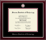 Stevens Institute of Technology Diploma Frame - Masterpiece Medallion Diploma Frame in Gallery Silver