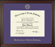 University of North Alabama Diploma Frame - Gold Embossed Diploma Frame in Studio