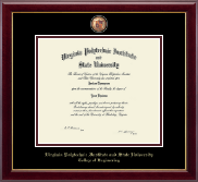 Virginia Tech Diploma Frame - Masterpiece Medallion Diploma Frame in Gallery