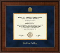 Rollins College Diploma Frame - Presidential Gold Engraved Diploma Frame in Madison
