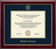 Rollins College Diploma Frame - Gold Embossed Diploma Frame in Gallery