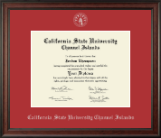 California State University Channel Islands Diploma Frame - Silver Embossed Diploma Frame in Studio