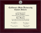 California State University Channel Islands Diploma Frame - Century Silver Engraved Diploma Frame in Cordova