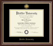 Pfeiffer University Diploma Frame - Gold Engraved Medallion Diploma Frame in Hampshire
