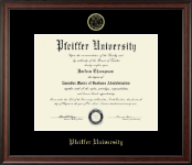 Pfeiffer University Diploma Frame - Gold Embossed Diploma Frame in Studio