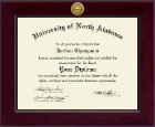 University of North Alabama Diploma Frame - Century Gold Engraved Diploma Frame in Cordova