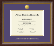 Abilene Christian University Diploma Frame - 23K Medallion Diploma Frame in Hampshire