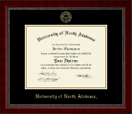 University of North Alabama Diploma Frame - Gold Embossed Diploma Frame in Sutton