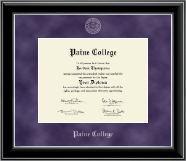 Paine College Diploma Frame - Silver Embossed Diploma Frame in Onyx Silver