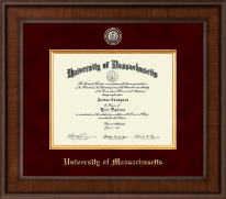 University of Massachusetts Amherst Diploma Frame - Presidential Brass Masterpiece Diploma Frame in Madison