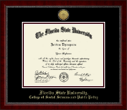 Florida State University Diploma Frame - Gold Engraved Medallion Diploma Frame in Sutton