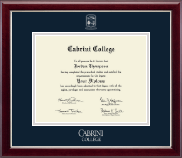 Cabrini College Diploma Frame - Silver Embossed Diploma Frame in Gallery Silver
