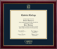 Cabrini College Diploma Frame - Gold Embossed Diploma Frame in Gallery