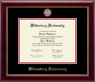 Wittenberg University  Diploma Frame - Masterpiece Medallion Diploma Frame in Gallery