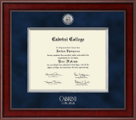 Cabrini College Diploma Frame - Presidential Silver Engraved Diploma Frame in Jefferson