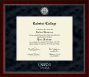 Cabrini College Diploma Frame - Silver Engraved Medallion Diploma Frame in Sutton