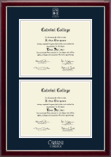 Cabrini College Diploma Frame - Double Diploma Frame in Gallery Silver