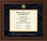 Western University of Health Sciences Diploma Frame - Presidential Gold Engraved Diploma Frame in Madison