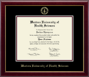 Western University of Health Sciences Diploma Frame - Gold Embossed Diploma Frame in Gallery