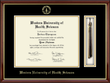 Western University of Health Sciences Diploma Frame - Tassel Edition Diploma Frame in Southport Gold