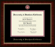 University of Southern California Diploma Frame - Masterpiece Medallion Diploma Frame in Murano