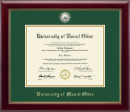 University of Mount Olive Diploma Frame - Masterpiece Medallion Diploma Frame in Gallery
