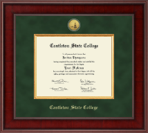 Castleton State College Diploma Frame - Presidential Gold Engraved Diploma Frame in Jefferson