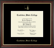 Castleton State College Diploma Frame - Gold Embossed Diploma Frame in Studio Gold