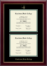 Castleton State College Diploma Frame - Double Diploma Frame in Gallery