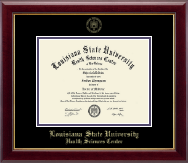 Louisiana State University Health Sciences Center Diploma Frame - Gold Embossed Diploma Frame in Gallery