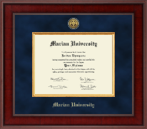 Marian University in Indiana Diploma Frame - Presidential Gold Engraved Diploma Frame in Jefferson