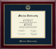 Marian University in Indiana Diploma Frame - Gold Embossed Diploma Frame in Gallery