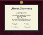Marian University in Indiana Diploma Frame - Century Gold Engraved Diploma Frame in Cordova