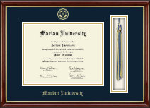 Marian University in Indiana Diploma Frame - Tassel Edition Diploma Frame in Southport Gold