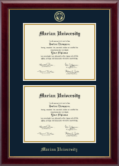Marian University in Indiana Diploma Frame - Double Diploma Frame in Gallery