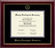 Wesley Theological Seminary Diploma Frame - Gold Embossed Diploma Frame in Gallery