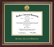 Southern Adventist University Diploma Frame - Gold Engraved Medallion Diploma Frame in Hampshire