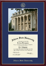 Athens State University Diploma Frame - Campus Scene Edition Diploma Frame in Galleria