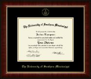 The University of Southern Mississippi Diploma Frame - Gold Embossed Diploma Frame in Murano