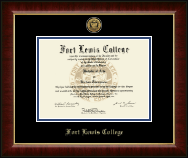 Fort Lewis College Diploma Frame - Gold Engraved Medallion Diploma Frame in Murano