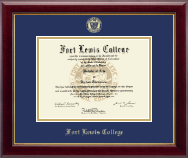 Fort Lewis College Diploma Frame - Gold Embossed Diploma Frame in Gallery