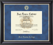 Fort Lewis College Diploma Frame - Gold Embossed Diploma Frame in Noir