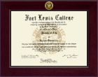 Fort Lewis College Diploma Frame - Century Gold Engraved Diploma Frame in Cordova