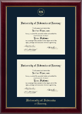 University of Nebraska Kearney Diploma Frame - Double Diploma Frame in Gallery