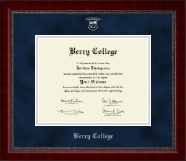 Berry College Diploma Frame - Silver Embossed Diploma Frame in Sutton